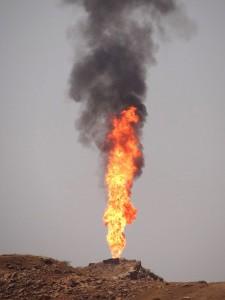 Gas Flare - Near Gachsaran - Southwestern Iran